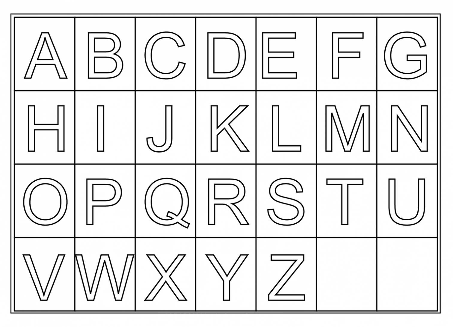 free printable alphabet letters free alphabet printables for preschool paper worksheets 1252