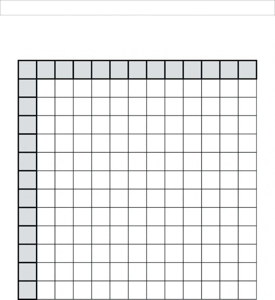 Blank Multiplication Table Worksheets