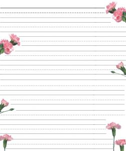 Printable Stationary Paper with Lines