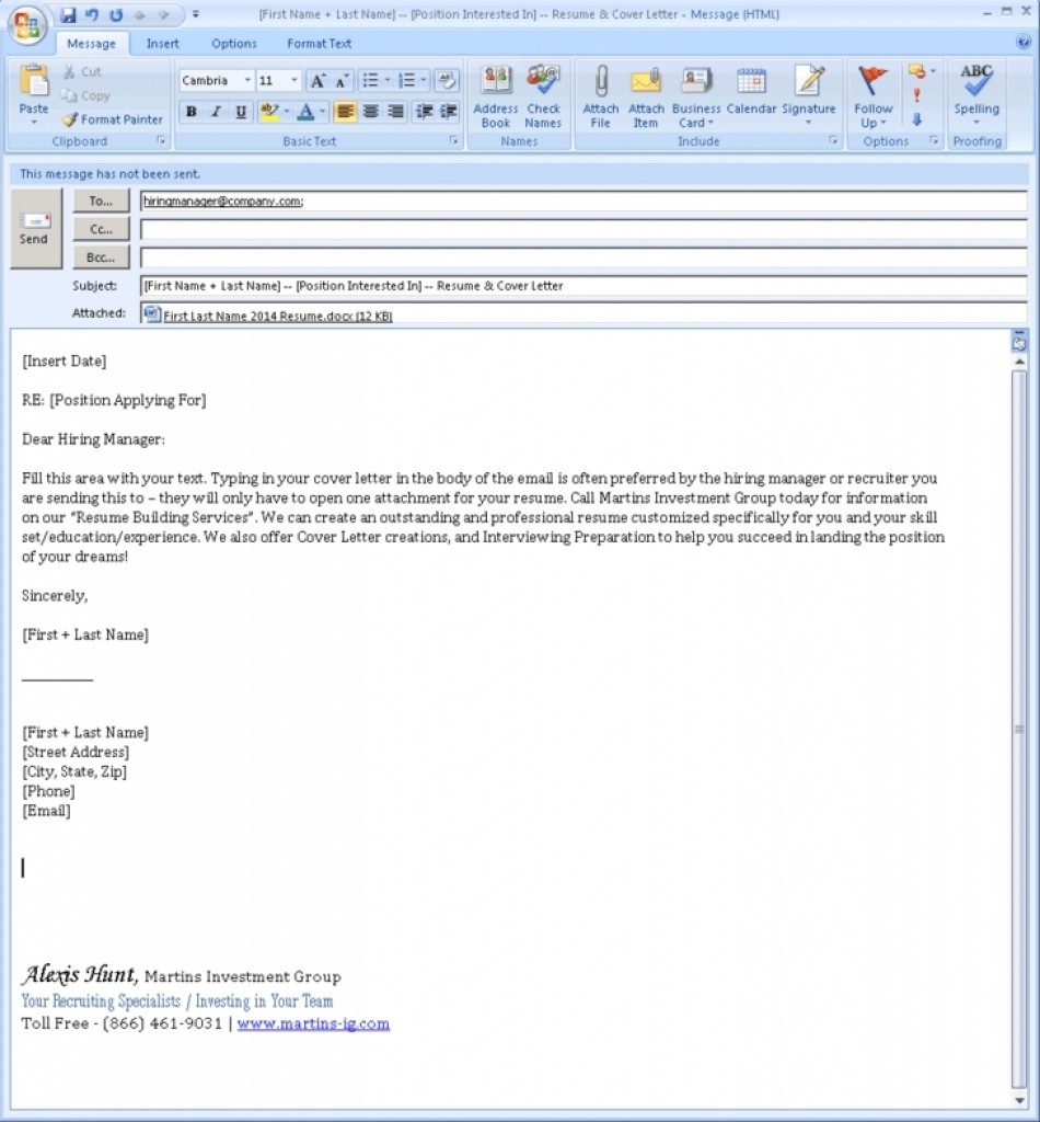 Business Email format