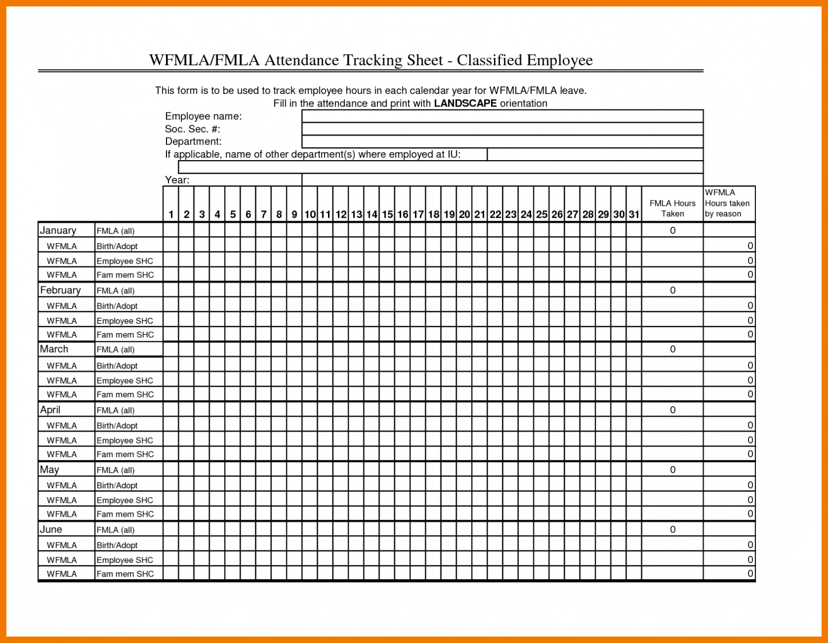 Employee Attendance Sheet Excel Calendar Paper Worksheets Calendar Templates Letter Tracing Sheets