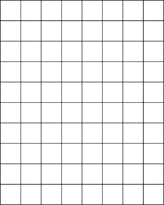 One Inch Grid Paper Printable