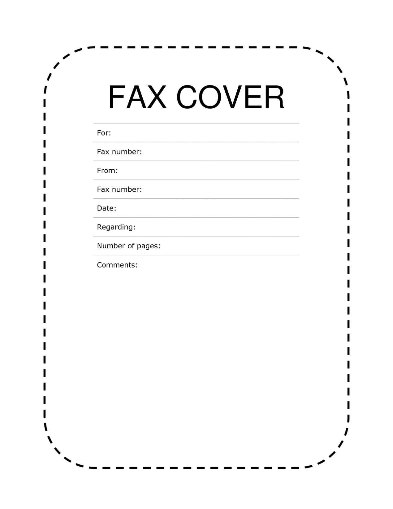 Printable Fax Cover Letter